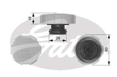 Крышка радиатора RC231 (7410-30073). Gates