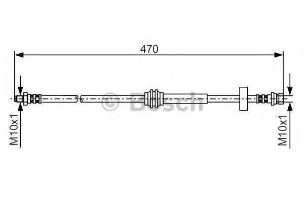 ТОРМОЗНОЙ ШЛАНГ зад. BH-529 Ford Focus I. Bosch (1987476885)