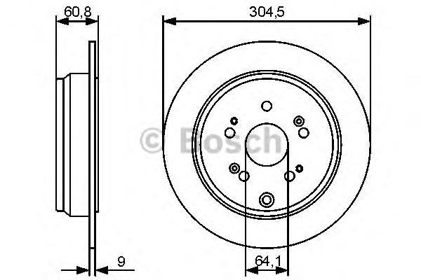 ТОРМОЗНОЙ ДИСК. Bosch (0986479449)