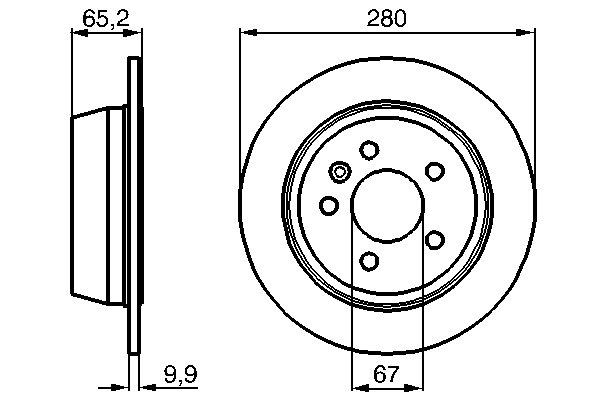 ТОРМОЗНОЙ ДИСК ЗАДНИЙ. Bosch (0986478873)