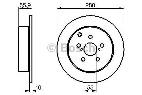ТОРМОЗНОЙ ДИСК ЗАДНИЙ. Bosch (0986479242)