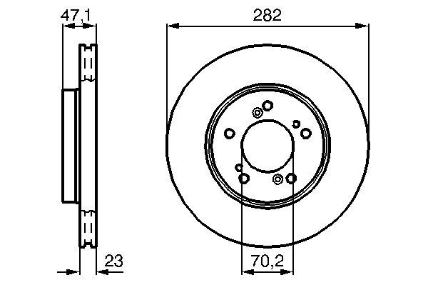 ТОРМОЗНОЙ ДИСК ПЕРЕДНИЙ. Bosch (0986478667)