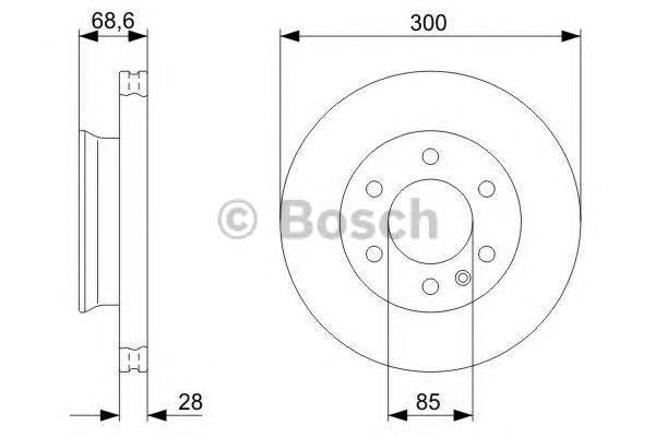 ТОРМОЗНОЙ ДИСК ПЕРЕДНИЙ. Bosch (0986479294)