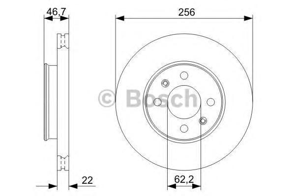 ТОРМОЗНОЙ ДИСК ПЕРЕДНИЙ. Bosch (0986479367)