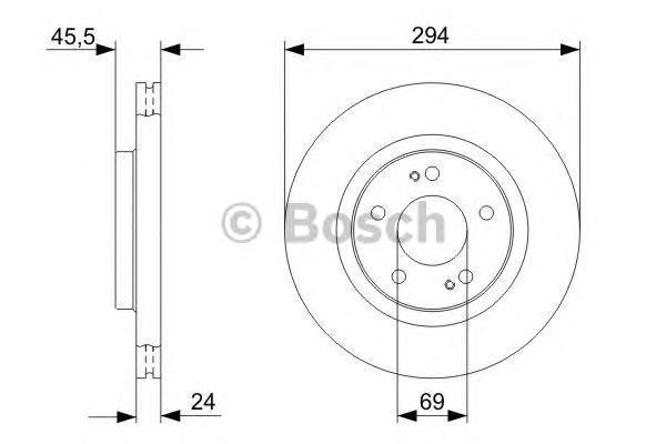ТОРМОЗНОЙ ДИСК ПЕРЕДНИЙ. Bosch (0986479372)