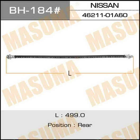 Шланг тормозной  Masuma  N- /rear/ Datsun D21 4WD. (BH-184)