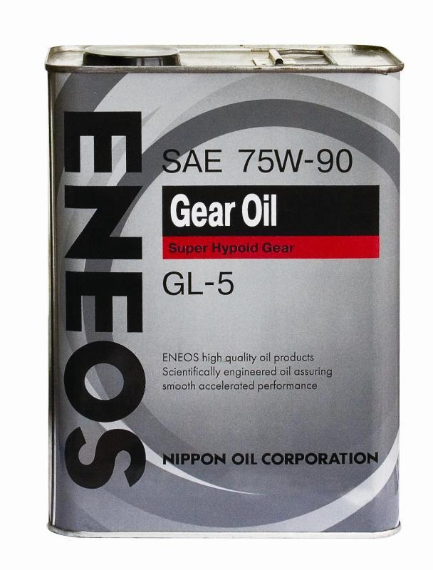 Масло трансмиссионное GEAR GL-5 75W-90, 4л. ENEOS (OIL1370)