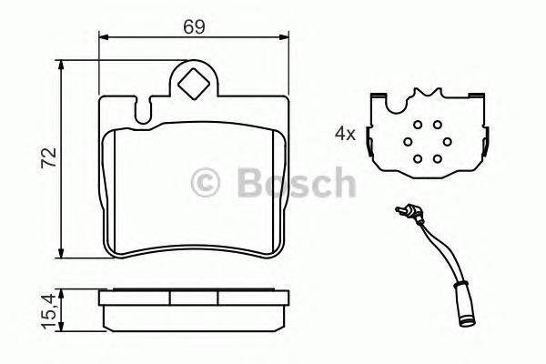 ТОРМОЗНЫЕ КОЛОДКИ. Bosch (0986424830)