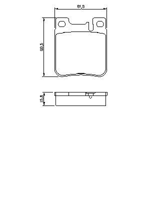 ТОРМОЗНЫЕ КОЛОДКИ. Bosch (0986460965)