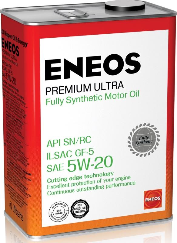 ENEOS Premium Ultra 100% Synt. SN 5W20 4л. ENEOS (8801252022183)