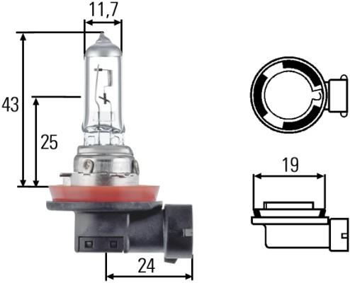 Лампа H11 12V 55W 8GH008358-121. Hella