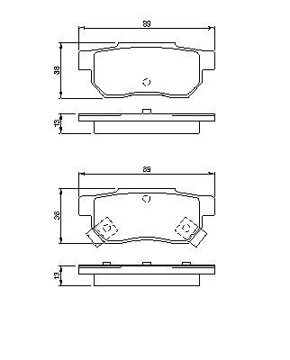 ТОРМОЗНЫЕ КОЛОДКИ. Bosch (0986461131)