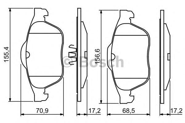 ТОРМОЗНЫЕ КОЛОДКИ. Bosch (0986494033)