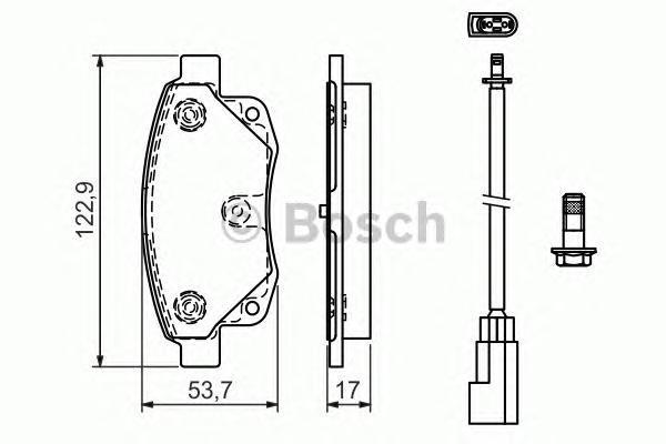 ТОРМОЗНЫЕ КОЛОДКИ. Bosch (0986494171)