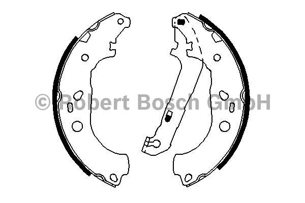 ТОРМОЗНЫЕ КОЛОДКИ БАРАБАН Ford Focus II ЗАМЕНА 0986487810. Bosch (0986487696)