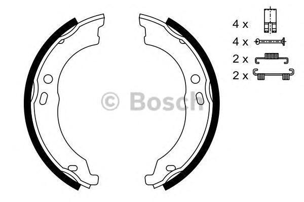 ТОРМОЗНЫЕ КОЛОДКИ БАРАБАН. Bosch (0986487726)