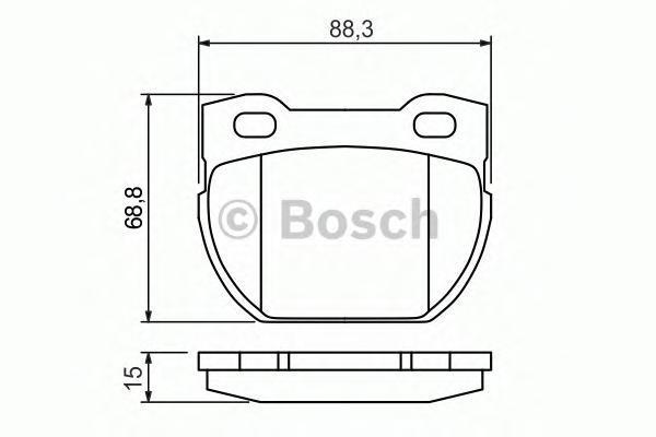 ТОРМОЗНЫЕ КОЛОДКИ ЗАДНИЕ. Bosch (0986424827)