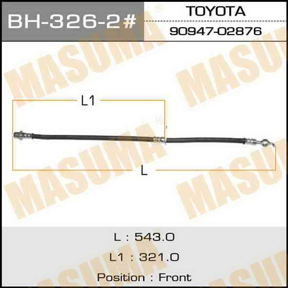 Шланг тормозной  Masuma  T- /front/ Camry Gracia MCV2#, SXV2# LH. (BH-326-2)