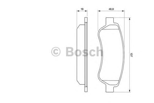 ТОРМОЗНЫЕ КОЛОДКИ ЗАДНИЕ. Bosch (0986494110)