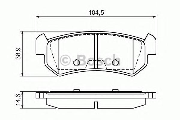 ТОРМОЗНЫЕ КОЛОДКИ ЗАДНИЕ. Bosch (0986494133)