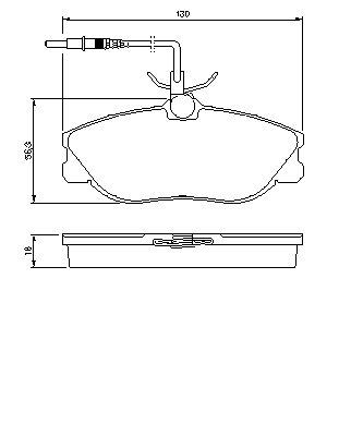 ТОРМОЗНЫЕ КОЛОДКИ ПЕРЕДНИЕ. Bosch (0986424223)