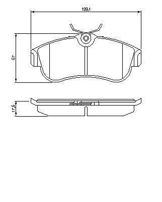 ТОРМОЗНЫЕ КОЛОДКИ ПЕРЕДНИЕ. Bosch (0986461147)