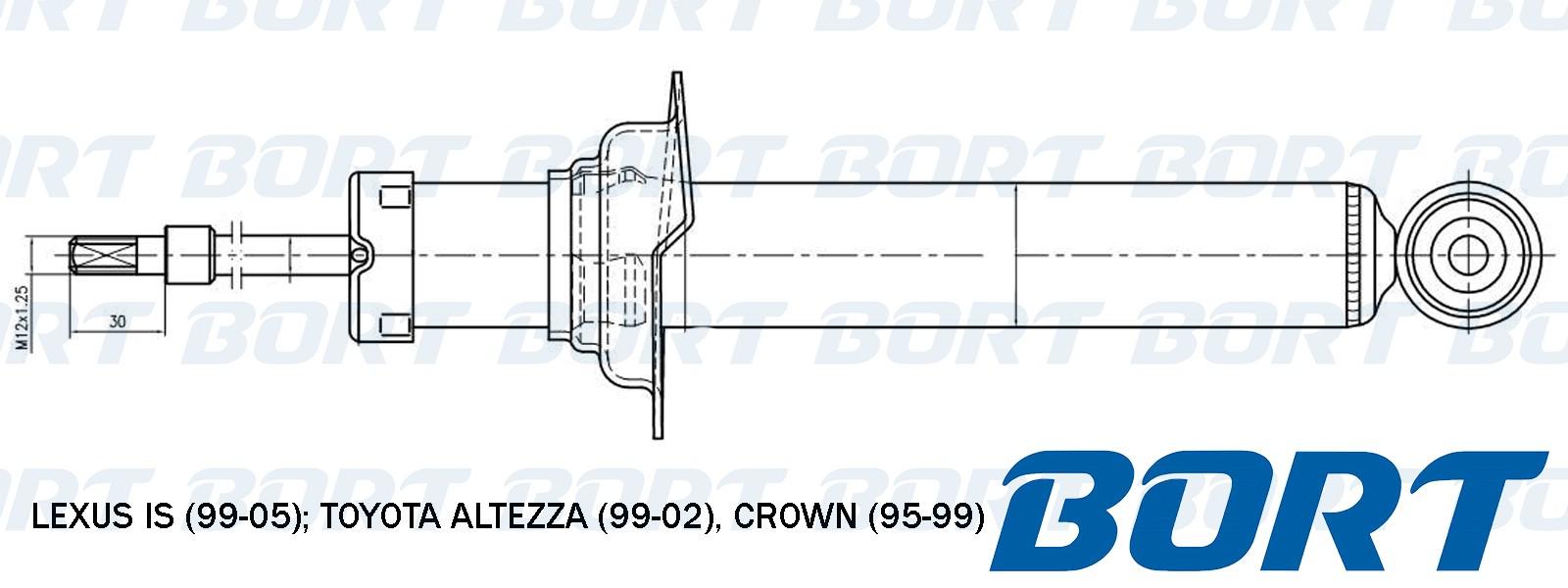 Амортизатор газомасляный передний. BORT (B341262)