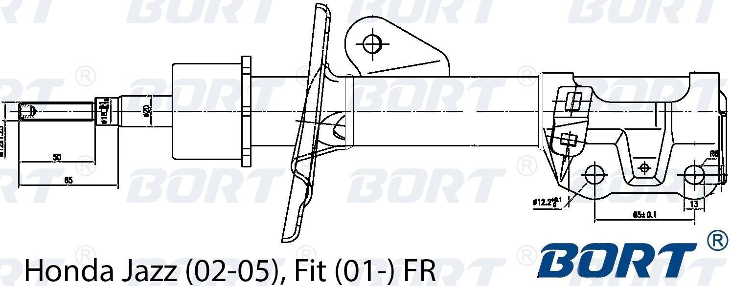 Стойка амортизатора передняя газомаслянная. BORT (G22045139R)