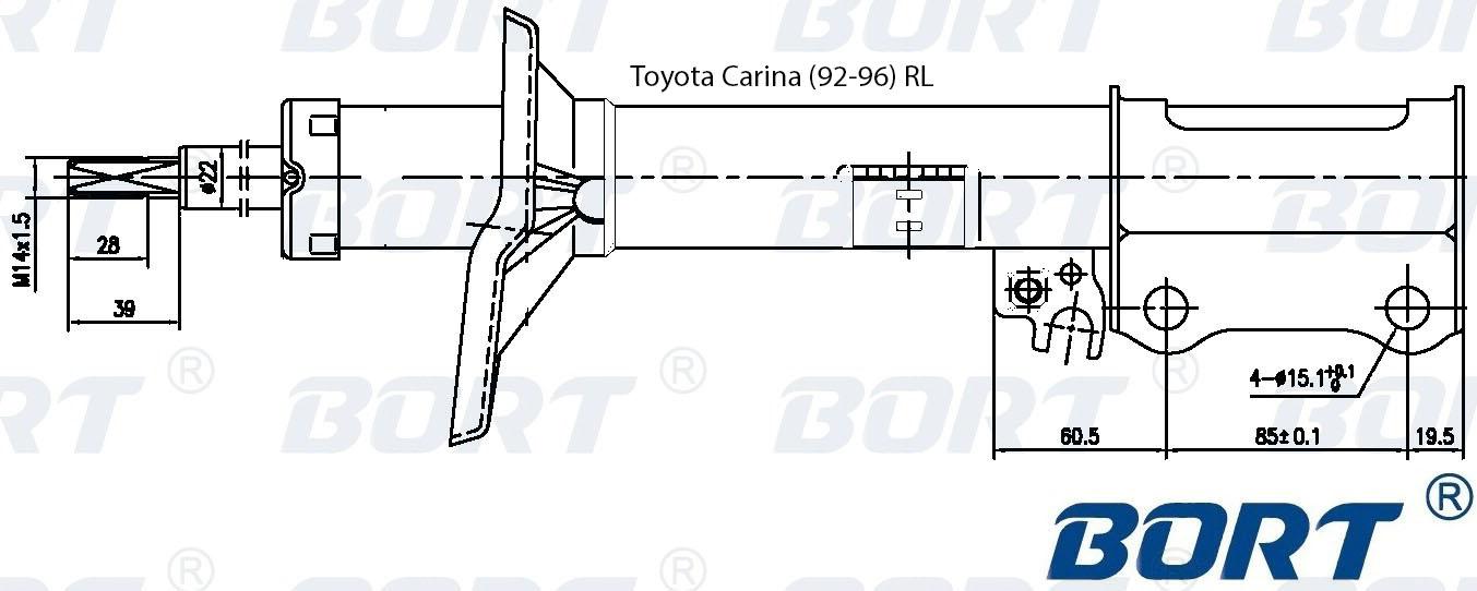 Стойка амортизационная газомасляная задняя левая. BORT (G22250029L)