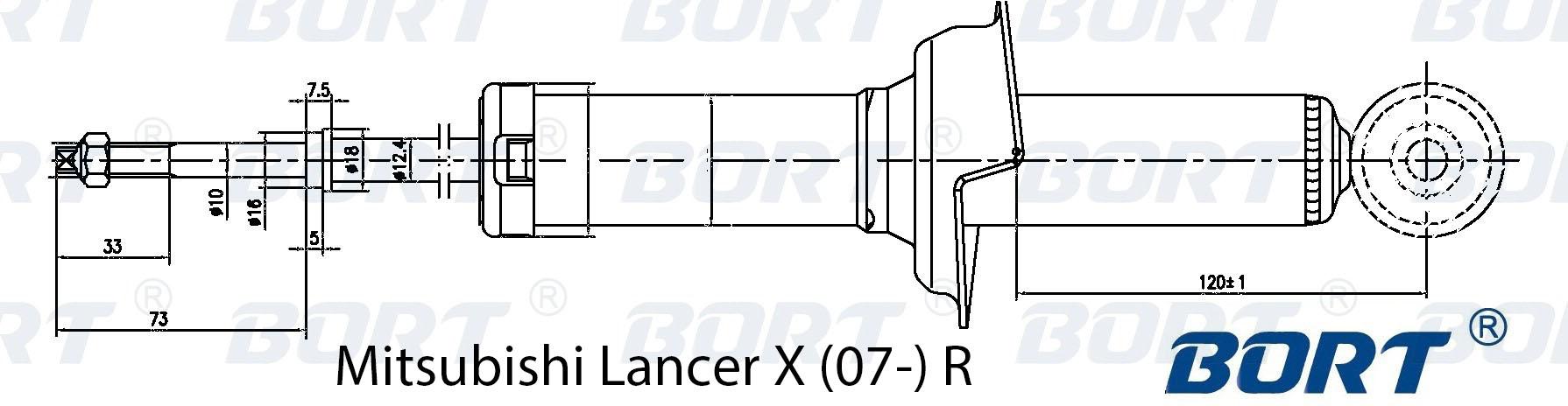 Амортизатор задний газомасляный. BORT (G41238113)