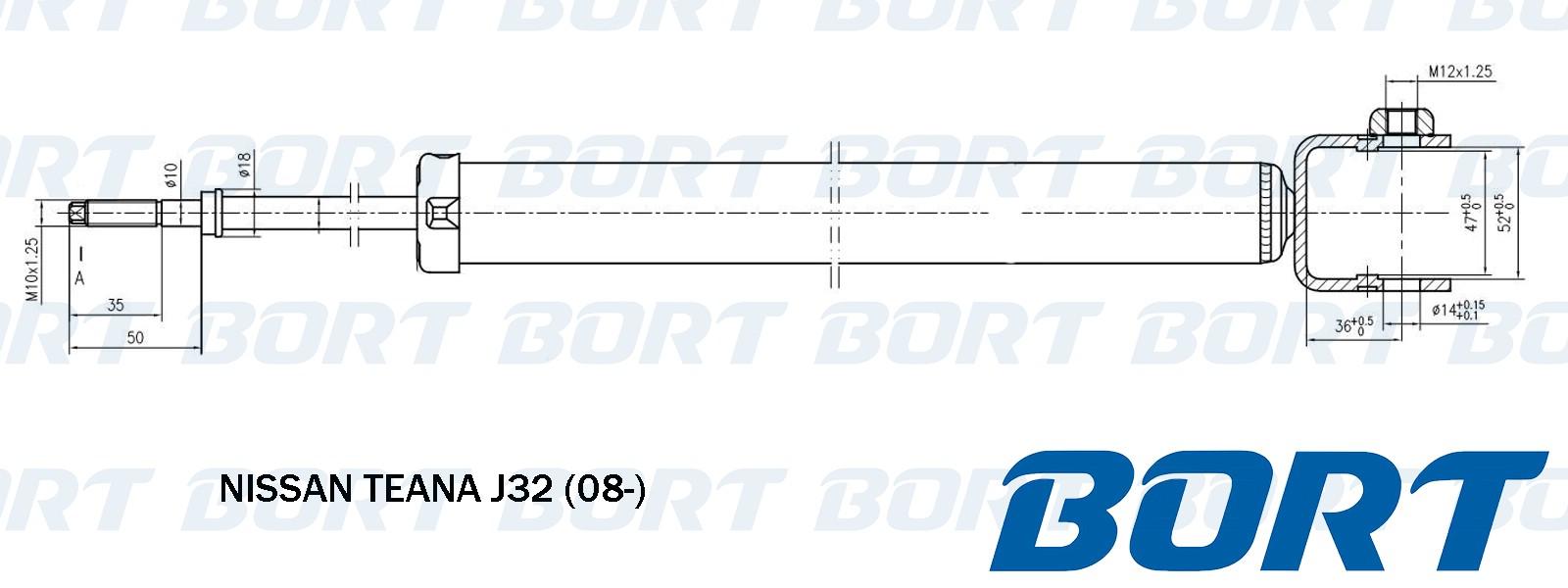 Стойка амортизатора задняя газомаслянная. BORT (G41238126)