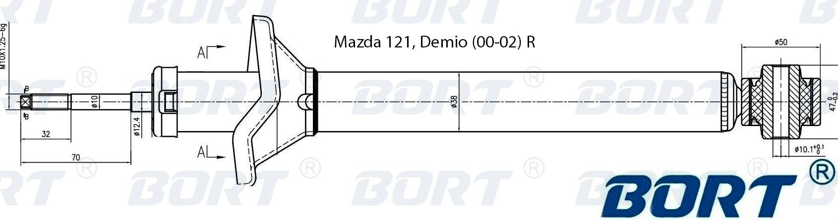 Амортизатор газомасляный задний. BORT (G41238158)