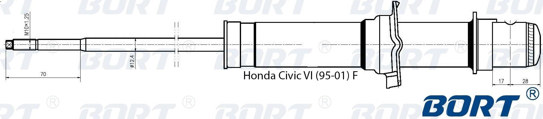 Амортизатор газомасляный передний. BORT (G41242003)