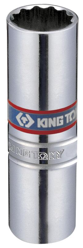 Головка Свечная 12гр 14мм 3 8 пружин. фиксатор. KING TONY (36A014)