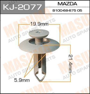Клипса крепежная  Masuma  2077-KJ (уп.50шт) салонная серая. (KJ-2077)