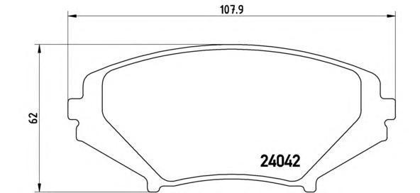 Колодки тормозные дисковые. Brembo (P49034)