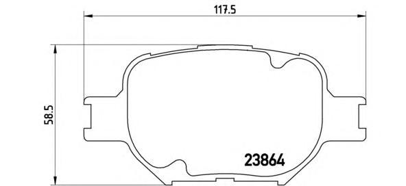 Колодки тормозные дисковые. Brembo (P83054)