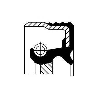 Сальник коленвала. Corteco (12013882B)