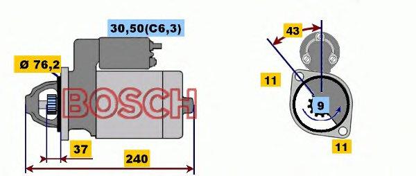 СТАРТЕР 12V, 1.8KW. Bosch (0001108203)