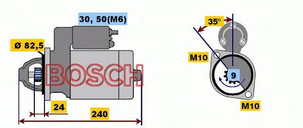 СТАРТЕР 12V, 2.0KW. Bosch (0001109042)
