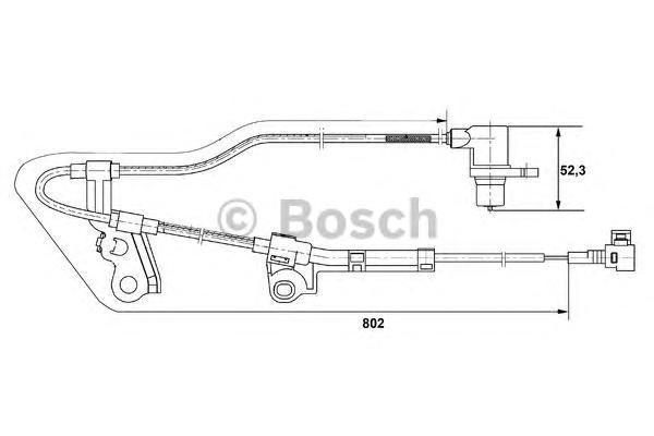 ДАТЧИК СКОРОСТИ ВРАЩ.КОЛЕСА. Bosch (0265006676)