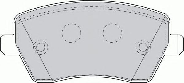 Колодки тормозные дисковые. Ferodo (FDB1617)
