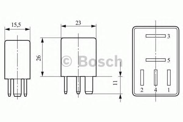 МИКРО-РЕЛЕ ПЕРЕКЛЮЧАЮЩЕЕ. Bosch (0332207405)