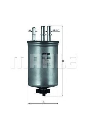 Фильтр топливный. Mahle (KL446)