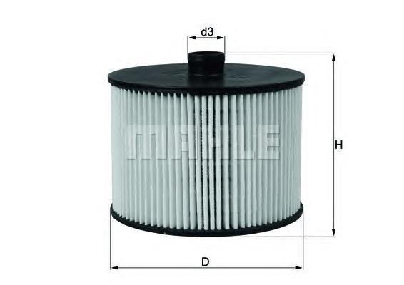 Фильтр топливный. Mahle (KX201D)