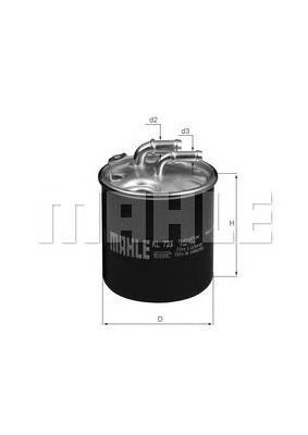 Фильтр топливный. Mahle (KL723D)