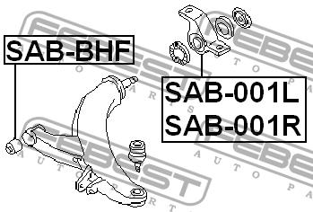 Сайлентблок рычага подвески. Febest (SAB001R)