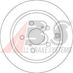 17512 диск тормозной ABS. (17512)