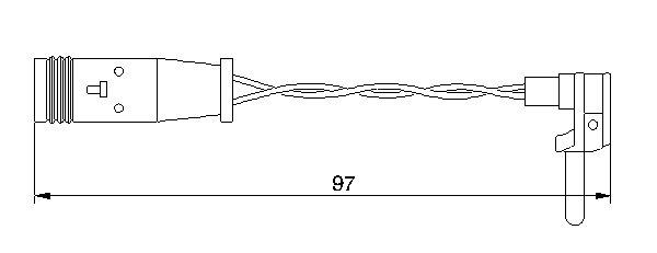 ДАТЧИК ИЗНОСА ТОРМ.КОЛОДОК MERCEDES. Bosch (1987474966)