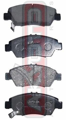 Колодки тормозные дисковые передние. AKYOTO (AKD1158)